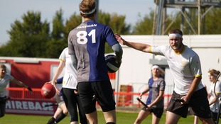 Quidditch is based on the fictional sport that appears in the Harry Potter book series.