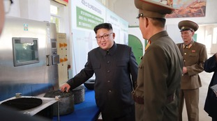 Kim Jong-un's North Korea also fired three missiles on Saturday.