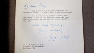 Lost Turing letters found in old filing cabinet at University of Manchester
