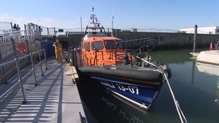 The Lowestoft lifeboat was among three lifeboats search for the missing diver off Great Yarmouth.
