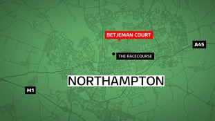 A pet cat has been mutilated and then left on the doorstep of its owners in Northampton.