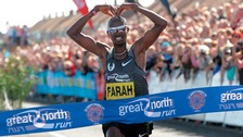 Mo-bot across the finish line at South Shields