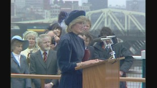 Princess Diana opening the Redheugh Bridge in 1983