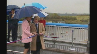 Princess Di opening the Princess of Wales Bridge