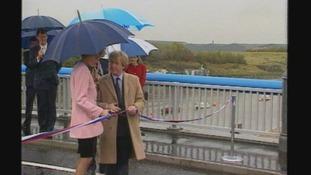 Princess Di opening the Princess of Wales Bridge
