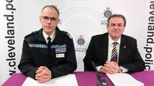 Cleveland Chief Constable Iain Spittal and Police and Crime Commissioner Barry Coppinger