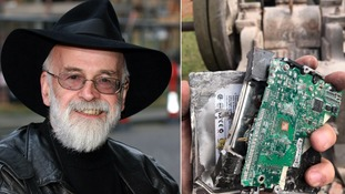 Sir Terry Pratchett's unpublished works squashed by steamroller