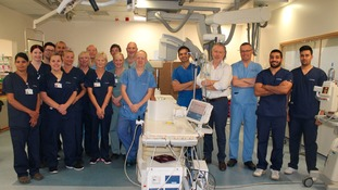 Heart specialists at James Cook Hospital celebrate patient milestone.