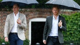 Princes William and Harry visit Diana memorial garden on eve of the 20th anniversary of her death