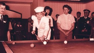 The day Princess Diana played a game of snooker in Exeter
