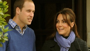 The Duke and Duchess of Cambridge pictured leaving the King Edward VII hospital