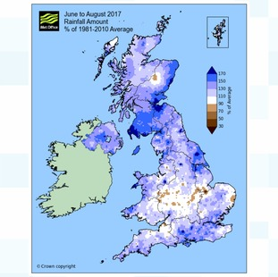 Rainfall statistics for the UK