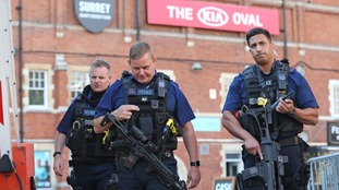 Armed police were called to the cricket ground