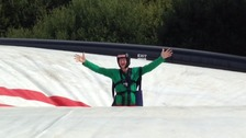 Eddie 'The Eagle' Edwards tested out Hangloose Adventure's new rides.