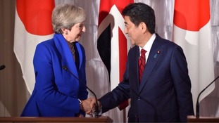 The Prime Minister had 'highly successful' talks with Shinzo Abe.