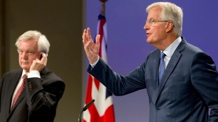 The EU's negotiator Michel Barnier (right, with David Davis) said on Thursday no no