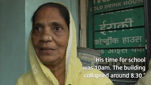 Amina Sheikh was readying her grandson for school when she heard the building crash.