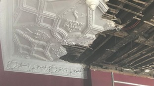 Ripped out ceiling