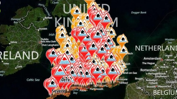 The Environment Agency has issued warnings and alerts across England and Wales