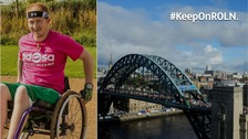 Man with a broken spine takes on the Great North Run