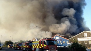 Firefighters deal with major blaze at Braintree industrial estate