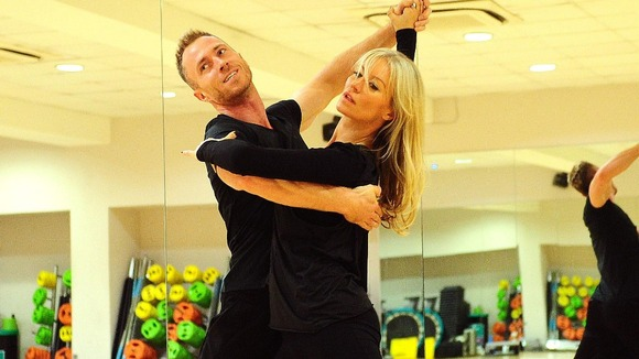 Denise van Outen and James Jordan during rehearsals for the show.