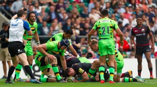 Northampton Saints concede nine tries in heavy opening day defeat to Saracens