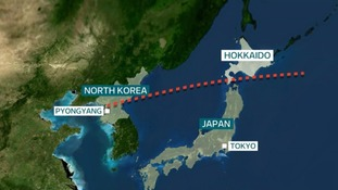North Korea last month flew a missile over the Japanese island of Hokkaido.