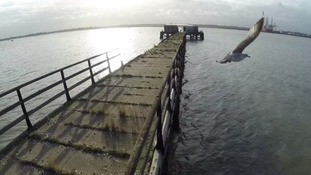 The pier has fallen into disrepair over the years.