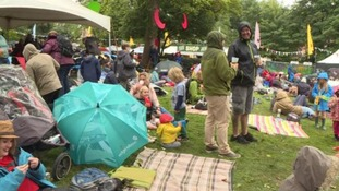 Rain... what rain? The weather failed to dampen festival-goers spirits.