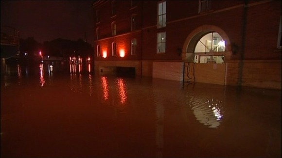 The centre of York has flooded following heavy rain.