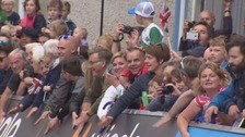 The first stage of the event finished in the town yesterday afternoon