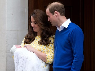 Princess Charlotte was presented to the world's media in May 2015.