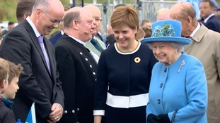 The Queen and Duke of Edinburgh were opening Scotland's Queensferry Crossing as the news was announced.