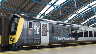 The new South Western Railway brand and liveried train was launched today.