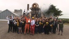The Man Engine toured various sites in Cornwall and West Devon last summer.