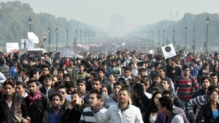 Thousands of people have continued to demonstrate in India's capital.