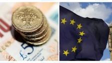 Cash and the EU flag