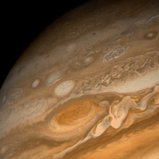 An image of Jupiter's Great Red Spot.