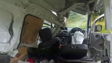 The driver was the only person in the van