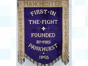 The banner was carried at many historic Suffragette rallies
