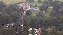 3rd stage of Tour of Britain kicked off from Normanby Hall near Scunthorpe