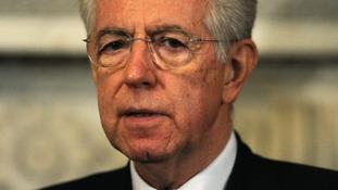 Italy's outgoing Prime Minister Mario Monti.