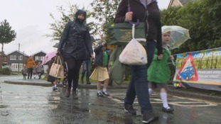 Parents now have to walk the final leg of the journey to school