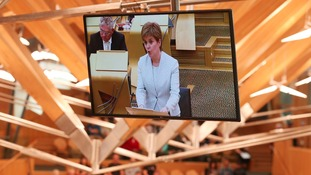 First Minister Nicola Sturgeon addresses the Scottish parliament in Edinburgh where she announced her Scottish Government's legislative programme for the coming year.