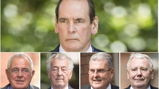 Clockwise from top: Sir Norman Bettison, Peter Metcalf, Graham Mackrell, Alan Foster and Donald Denton