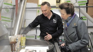Princess Anne at Ilkley Brewery