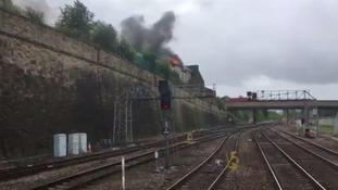 The fire broke out near Bradford Interchange