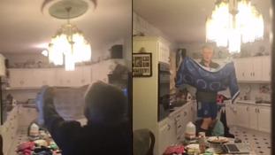Irish family's battle with flying bat goes viral