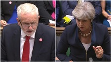 Jeremy Corbyn and Theresa May face off in the first PMQs since the summer